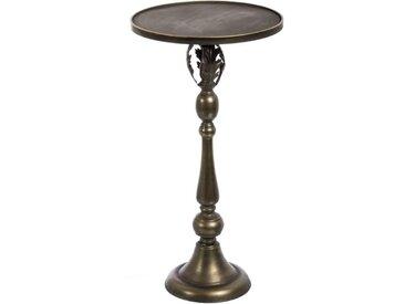 Sellette Bronze vieilli - WANX - L 40 x l 40 x H 77