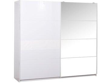 Armoire 2 portes coulissantes Laqué Blanc - SENYA