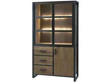 Argentier 3 portes 3 tiroirs Chêne antique à LEDs - ANGKOR