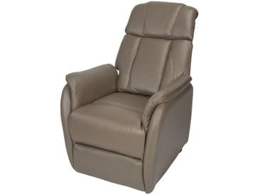 Fauteuil Relax Releveur Cuir taupe - MARTIN