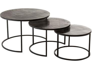 Tables gigognes rondes Métal noir - ZANDVORT