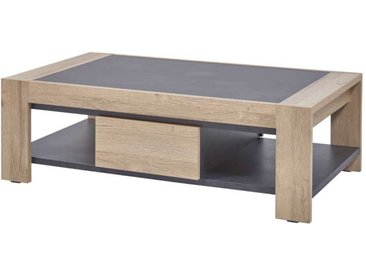 Table basse 2 tiroirs Chêne naturel - OSTENDE