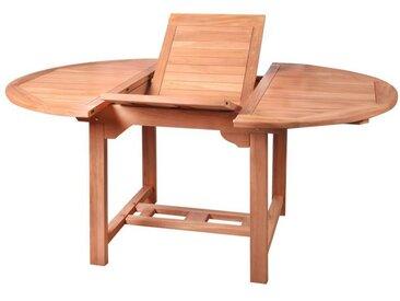 Table de repas ronde à allonge en Bois de teck - HALAVELI