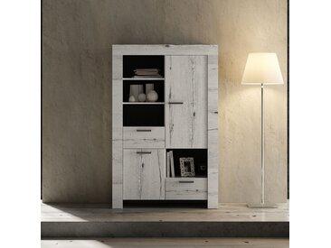 Vaisselier 2 portes 2 tiroirs Chêne blanchi - VERONE