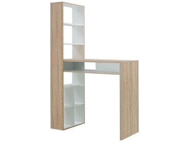 Bar comptoir avec étagères - BELLAMY - L 120 x l 58 x H 105