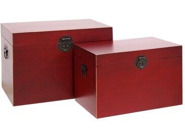Duo de coffres Rouge Meuble Chinois - PEKIN