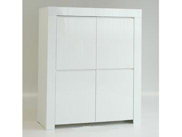 Vaisselier 4 portes laqué Blanc brillant - PISA