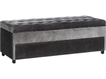 Banquette coffre + tiroir Tissu gris taille M - VIPOP