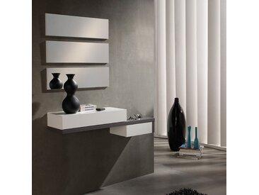 Meuble d'entrée Cendre + miroir - YNANG