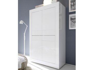 Vaisselier 4 portes Blanc laqué brillant - MATERA