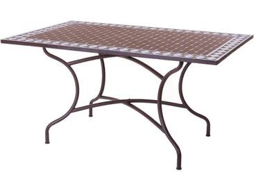 Table de repas Céramique mosaïque/Fer forgé - LOMBOK