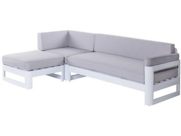 Canapé d'extérieur Aluminium Blanc/Gris - NUKU n°2