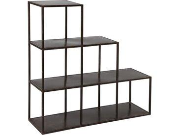 Étagères escalier en acier noir - BOXY