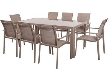 Ensemble Table & Chaises Aluminium - FLORES