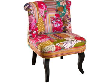 Fauteuil Crapaud Patchwork - CATHY