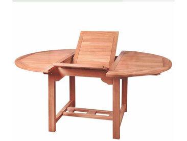 Table de repas ovale à allonge en Bois de teck n°1 - HALAVELI