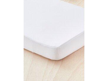 Alèse/drap-housse 2 en 1 blanc