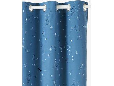 Rideau occultant détails phosphorescents PLANETES bleu