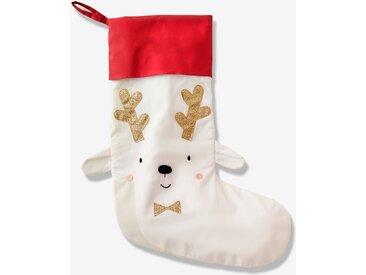 Chaussette de Noël Renne blanc