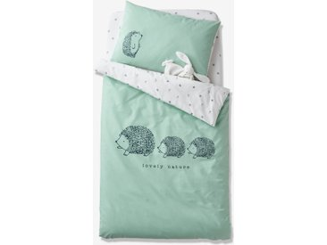Housse de couette bébé Bio Collection LOVELY NATURE vert/ivoire