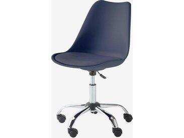 Chaise de bureau primaire à roulettes bleu marine