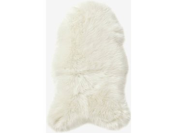 Tapis effet peau de mouton blanc