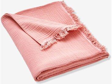 Couverture en gaze de coton bio rose