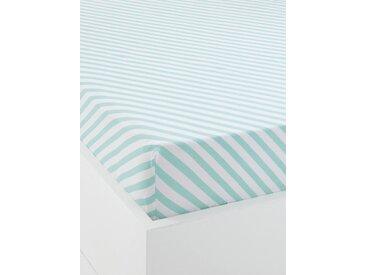 Drap-housse bébé JUNGLE PARTY Oeko-Tex® vert/blanc