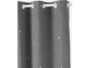 Rideau occultant détails phosphorescents ETOILES gris