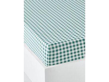 Drap-housse enfant HAPPY'RAMIDE Oeko-Tex® blanc / vert