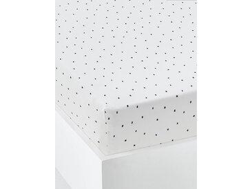 Drap-housse bébé PETIT DINO  Oeko-Tex® blanc / marine