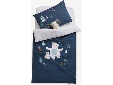 Housse de couette bébé LAPONIE Oeko-Tex® bleu nuit