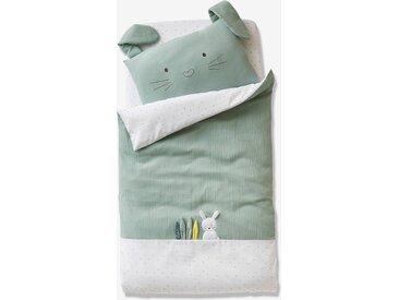 Housse de couette bébé MENTHE A L'EAU Oeko-Tex® vert