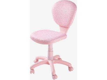 Chaise de bureau à roulettes rose/fleurs