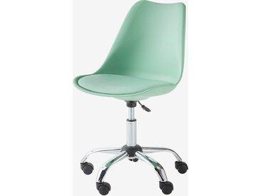 Chaise de bureau primaire à roulettes vert