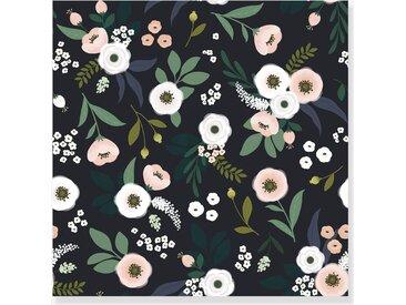 Papier peint intissé Lilipinso fleurs sur fond sombre