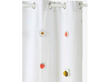 Rideau tamisant JARDIN DES ABEILLES blanc / multicolore