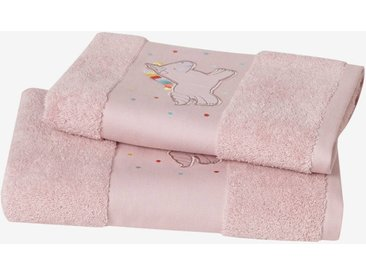 Serviette de bain Licorne Oeko-Tex® rose clair