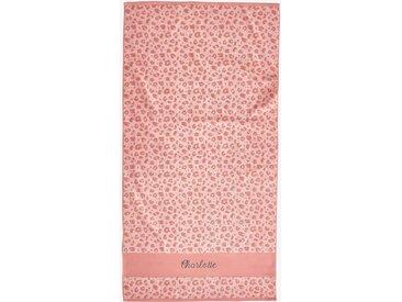 Serviette de bain personnalisable Oeko-Tex® rose