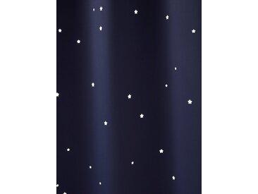Rideau à œillets occultant et motifs perforés marine / étoiles