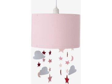 Abat-jour pour suspension étoiles et nuages Féérie rose