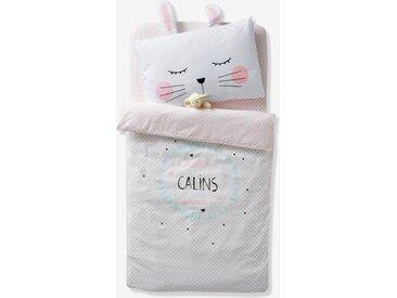 Housse de couette bébé CALINS D'AMOUR Oeko-Tex® blanc