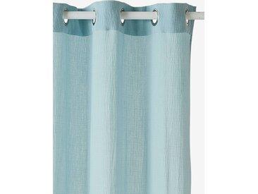 Rideau tamisant en gaze de coton bleu grisé