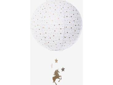 Boule en papier pour suspension Licorne blanc