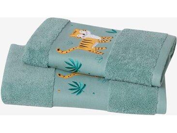 Serviette de bain Tigre Oeko-Tex® vert