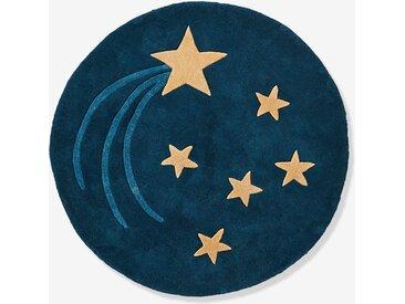 Tapis rond tufté Ciel étoilé bleu