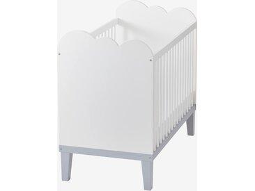 Lit bébé à barreaux LIGNE NUAGE blanc/gris