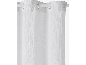 Rideau tamisant en gaze de coton blanc