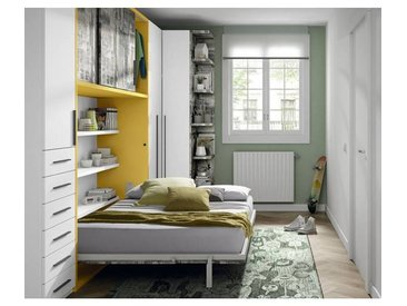 Ros Lit escamotable avec armoire à portes coulissantes