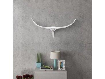 Décoration tête de taureau mural Argenté 72 cm - vidaXL